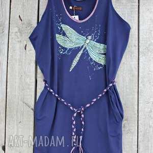 sukienki sukienka ręcznie malowana rozmiar l, ręcznie