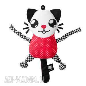 Maskotka sensoryczna - POOFY CAT SENSO, sensorek, kot, kontrastowe, chwytak