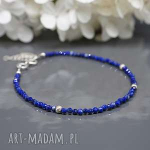 delikatna bransoletka z lapis lazuli aerin, bransoletka, lazuli, srebrna