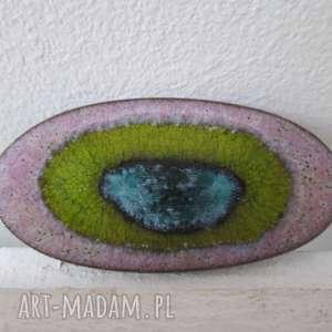 handmade broszki wielobarwna broszka owalna
