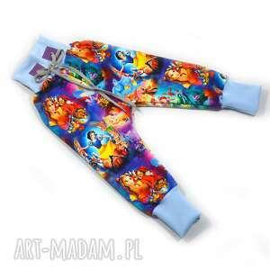 księżniczki disney spodnie haremki dla dziewczynki, rozmiary 62-122