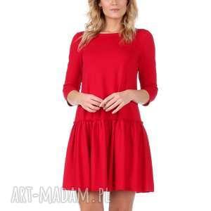 864b937a69 Trapez - handmade czerwony (sukienka) dzianina