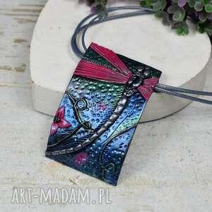 naszyjnik-zawieszka z ważką, naszyjnik ważka, biżuteria ważka