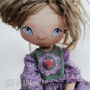 hand-made dekoracje nastka - lalka kolekcjonerska figurka tekstylna ręcznie szyta