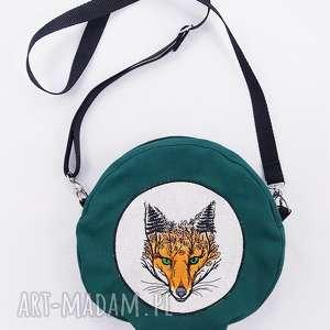 torebka lis, torebka, okrągła, lisek, zielona, las