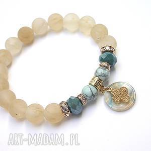 handmade biżuteria sand and blue marble /25 -04 -19/ - bransoletka