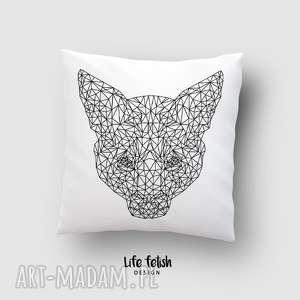 poduszki poduszka z lisem outline, poduszka, grafika, lis, wild, linie dom