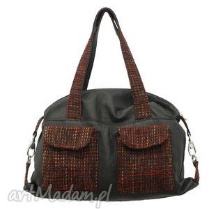 09-0005 czarna torba sportowa / torebka fitness tit, modne, markowe, torebki