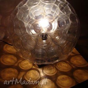lampy lampa z małych kubków pet, design, prezent, lampa, loft, transparent, kubki