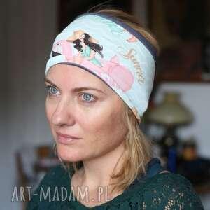 handmade opaski opaska damska sportowa w najszerszym miejscu ma 12cm, na podszewce