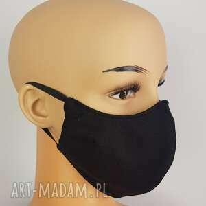 maseczki maska czarna czterowarstwowa dwustronna