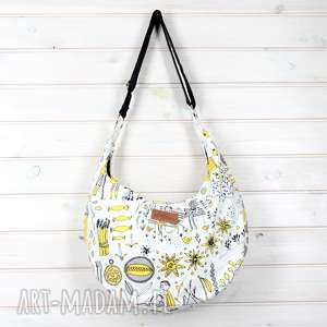Hobo pojemna torebka na ramię listonoszka rysunki godeco torebka