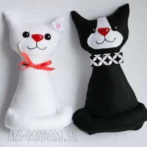 ślubna para kotki miau, ślub, zabawka, maskotka, dekoracja, prezent, pamiątka