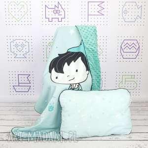 handmade dla dziecka zestaw kocyk i płaska poduszka piotruś pan