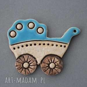 wózeczek- magnes, ceramika, narodziny, baby, wózek, syn, prezent, rodzice