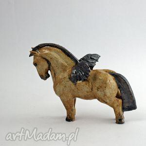cereamiczna figurka skrzydlatego konia - pegaza azul horse, figurka, rzeźba