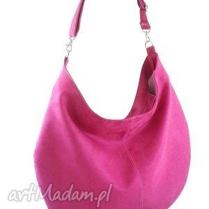 Sack pink - ,torebka,hobo,worek,codzienna,