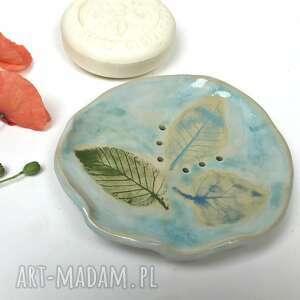 ceramystiq studio ceramiczna mydelniczka 3 feuilles, polskie rzemiosło, polska
