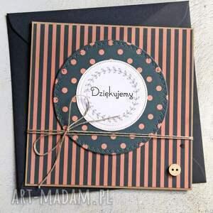 ręczne wykonanie kartki dziękuję: podziękowanie: kartka handmade