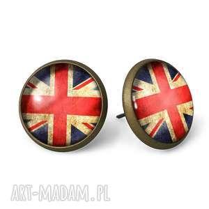 flaga wielkiej brytanii - kolczyki wkręty - biżuteria wkrętki