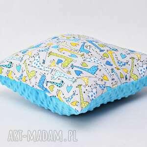 poduszki poduszka w żyrafy, żyrafia poduszka, z żyrafami niebieska