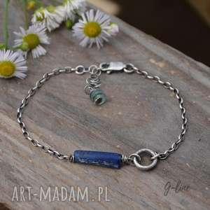 szkło antyczne prosta srebrna bransoletka, srebrna