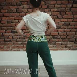 spodnie dresowe damskie - butelkowa zieleń, dres damski, z kieszeniami