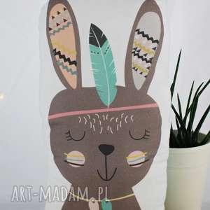 Poduszka przytulanka, indiański króliczek, bawełna!, poduszka, podusia, królik