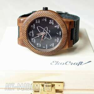 drewniany zegarek chemistry eagle, drewniany, chemiczny, chemia, chemik