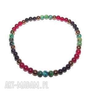 Bransoletka minimalistyczne, delikatna, boho, kolorowa, kamienie, naturalne, modna
