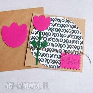 hand-made kartki just for you: kartka uniwersalna: tulipan