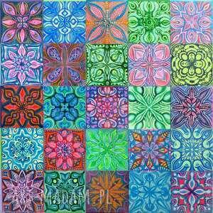 Mozaika andaluzja 5x5 pi art mozaika, malarstwo, kafelki