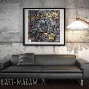 klucze, nowoczesny obraz, abstrakcja, faktura 3d, obraz bogato zdobiony