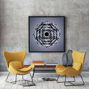 Mandala 50x50cm, plakat, plakaty, mandala, sztuka, grafika
