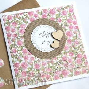 kartki kartka ślubna handmade, ślub