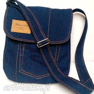 torebka z jeansu listonoszka - torebka, jeans, recykling, unisex, modna, listonoszka