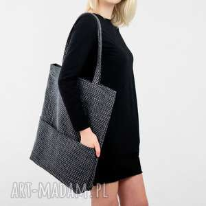 hand-made na ramię prostokątna torba w kolorze melanżowym