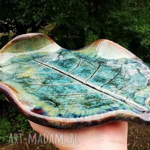 ceramiczna patera, liść c334, ceramiczny, liść, talerz, ceramika