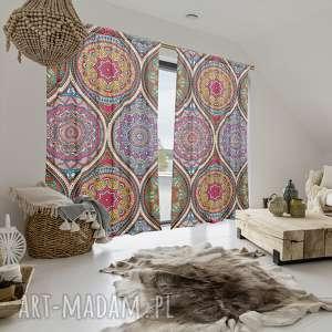 komplet zasłon bawełnianych maroccan arabesque, zasłony, firanki, fototapeta