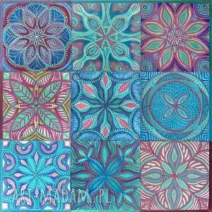 unikalny, mozaika estremadura 3x3, mozaika, malarstwo, kafelki, obraz