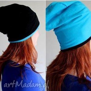 czapka dresowa 2 w 1 dwustronna dwukolorowa, dresowa,