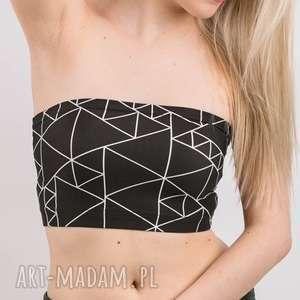triangle bandeau black - top biustonosz sportowy opaska stanik tuba, top