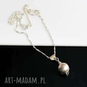naszyjniki perła w muszli - naszyjnik, seashell, srebro, muszla