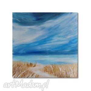 morski pejzaż, nowoczesny obraz ręcznie malowany, morze, obraz,