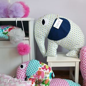 hand made dla dziecka duża poduszka przytulanka słonik od tulimi kolory