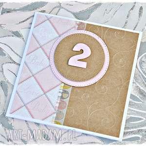 kartka na pierwsze/drugie urodziny dla dziewczynki, kartka, urodzinowa