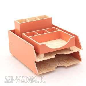 Prezent Przybornik do biura- Organizer- Zestaw biurkowy 4 elementy, biuro,