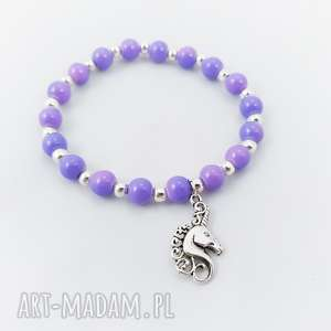bransoletka koralikowa unicorn - ,bransoletka,gumka,nagumce,unicorn,jednorożec,
