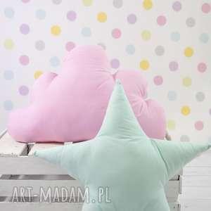 poduszka w kształcie gwiazdy miętowa, gwiazda, prezent, dekoracja, poduszka, dziecko