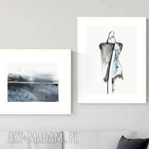 zestaw 2 obrazów wykonanych ręcznie, abstrakcja, 2664396, obraz ręcznie malowany